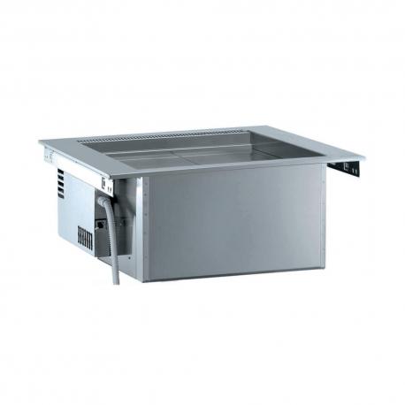 Rustfri drop-in ventileret kølebrønd, 2GN, ekskl kompressor