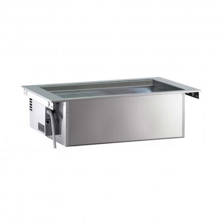 Rustfri drop-in ventileret kølebrønd, 3GN, ekskl kompressor