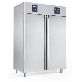 Rustfrit dobbelt køle-/fryseskab 605+605L