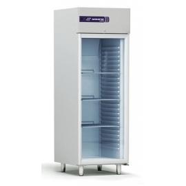 Rustfrit fryseskab 554L, glasdør