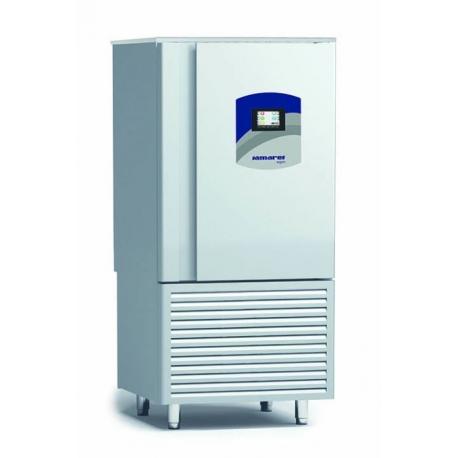 Rustfri blæstkøler, 12 GN1/1 - EN600/400mm, ekstra kraftig kompressor