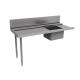 Forskyllebord med vask til hætteopvasker, B1800 mm